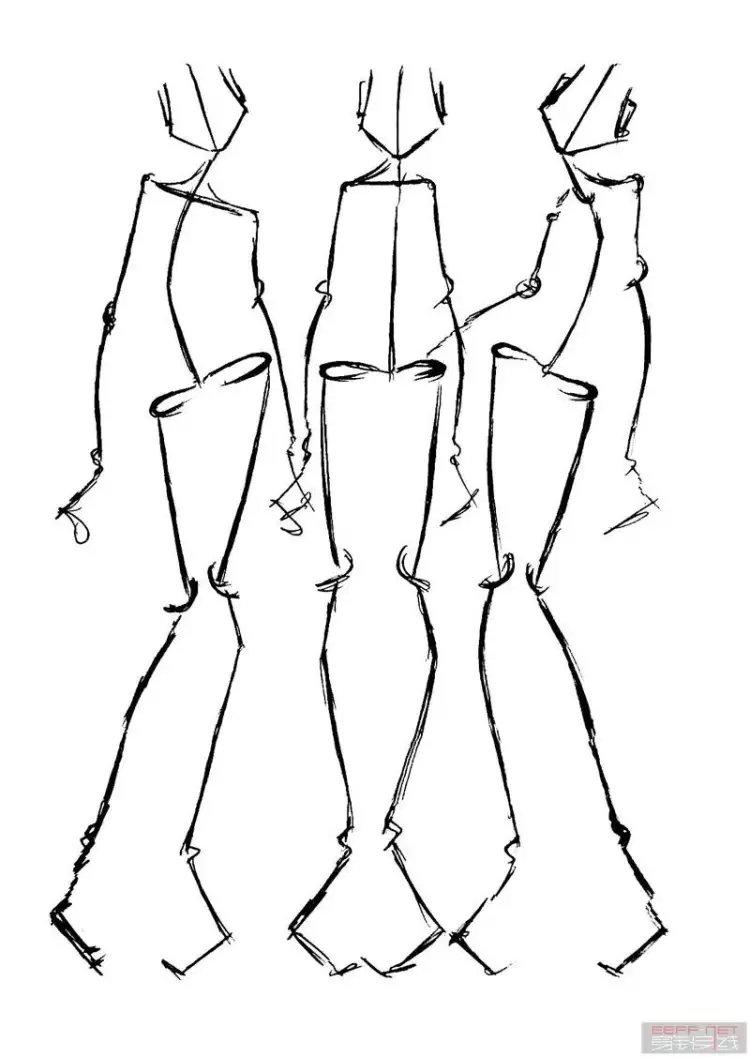希望对零基础学习服装设计的朋友们有帮助 要想画好服装画,人体比例